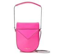 Soleil Glossed-leather Shoulder Bag Bright Pink Size --