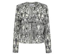 Frayed jacquard-tweed jacket