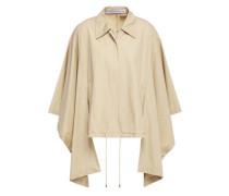 Draped Cotton-gabardine Jacket Beige