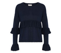 Phillipa ruffled silk and cashmere-blend sweater