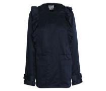 Ramius ruffle-trimmed satin-twill hooded jacket