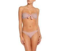 Knotted laser-cut bandeau bikini