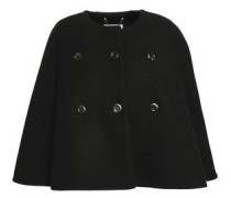 Wool And Cashmere-blend Cape Black