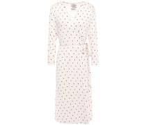 Jillian Polka-dot Stretch-jersey Wrap Dress Neutral