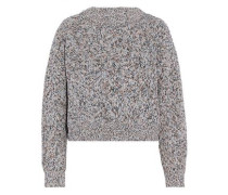 Marled cotton sweater
