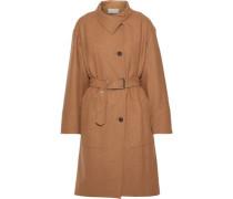 Belted Wool Coat Camel