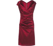 Woman Wrap-effect Ruched Ottoman Dress Crimson
