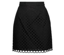 Broderie anglaise cotton mini  skirt