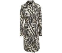 Woman Zebra-print Stretch-cotton Poplin Trench Coat Animal Print