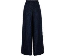 Harrison Fil Coupé Wide-leg Pants Black Size 12