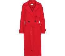 Woven Trench Coat Red Size 0