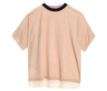 Layered cotton-blend jersey T-shirt