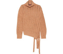 Woman Nancy Mélange Ribbed Cashmere And Wool-blend Sweater Tan