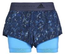 Layered Printed Shell Shorts Blue