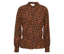 Leopard-print Silk Blouse Animal Print