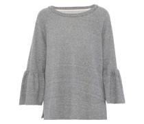 Frayed Cotton-blend Terry Sweatshirt Gray