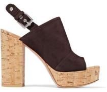 Marcy suede and cork platform sandals