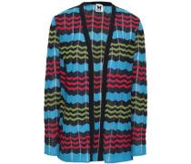 Crochet-knit Cardigan Light Blue