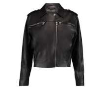 Maisie leather biker jacket