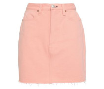 Two-tone Denim Mini Skirt Peach  3