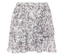 Erie Wrap-effect Printed Chiffon Mini Skirt White