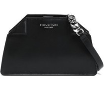 Textured-leather Shoulder Bag Black Size --