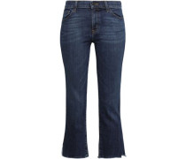 Cropped Mid-rise Skinny Jeans Dark Denim  8
