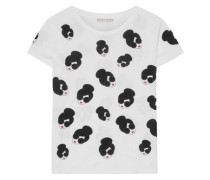 Woman Printed Cotton-jersey T-shirt White
