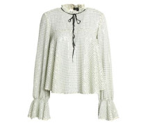 Sequined crepe de chine blouse
