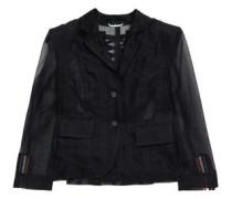 Lace-up Tulle Blazer Black