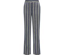 Metallic Jacquard Wide-leg Pants