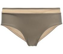 Mesh-trimmed mid-rise bikini briefs