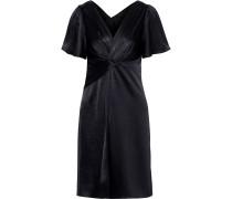 Silvana Twist-front Satin Dress