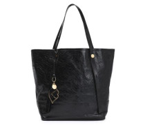 Bisou quilted cracked-leather tote