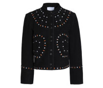 Studded suede jacket
