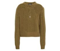 Open-knit Merino Wool Sweater Army Green