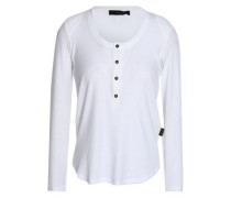 Ribbed Stretch-jersey Top White