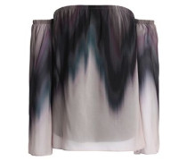 Grande Jete off-the-shoulder dégradé chiffon top