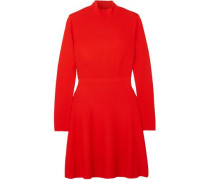 Woman Two-tone Crepe Mini Dress Red