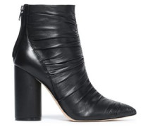 Kimay ruched leather ankle boots
