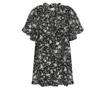 Ruffle-trimmed Silk Crepe De Chine Blouse Black Size 0