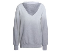 Cutout dégradé cotton-blend jersey sweatshirt