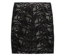 Paisley laser-cut suede mini skirt