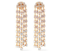 Gunmetal-tone Crystal Clip Earrings Gold Size --