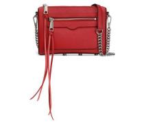 Textured-leather Shoulder Bag Claret Size --