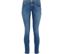 Faded Low-rise Skinny Jeans Mid Denim  3