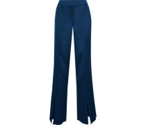 Satin Wide-leg Pants Navy Size 12