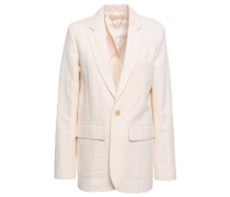 Idora Cotton-blend Crepe Blazer Cream