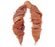 Dégrad cashmere and silk-blend scarf