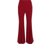 Parkgate Crepe Flared Pants Crimson